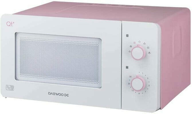 Daewoo QT3R Compact Manual Control Microwave Oven 600 W