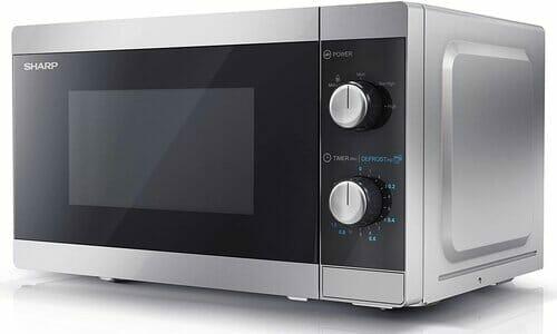 Sharp YC-MS01U-S 800 W Basic Solo Microwave Oven
