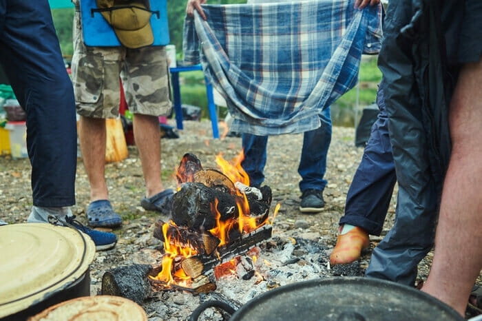How To Dry Wet Clothes When Camping
